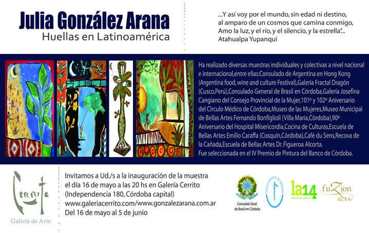 Muestra 'Huellas de Latinoamérica' de Julia González Arana