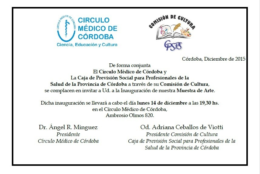 Invitación Exposición de Arte