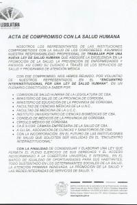 Acta de Compromiso con la Salud Humana – Página 1